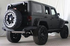 Stealth Jeep - Love the Nittos Jeep Jk, Jeep Wrangler Jk, Jeep Truck, Jeep Wrangler Unlimited, My Dream Car, Dream Cars, Black Jeep, Four Wheel Drive, Jeep Life