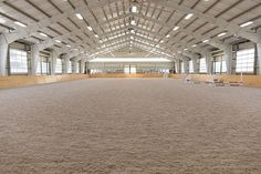 A Barn & Apartment with a View - STABLE STYLE Equestrian Stables, Horse Stables, Horse Farms, Dream Stables, Dream Barn, Luxury Horse Barns, Barn Layout, Horse Barn Designs, Horse Arena