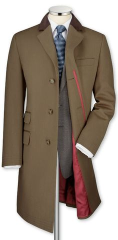 Fawn covert coat from Charles Tyrwhitt