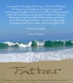 Happy Father's day Daddy. I wish you were here so that I could tell you these words myself. Though we had our moments 1 always remained, your unconditional love. Right or wrong daddy was always there. Though we did not see eye to eye on everything you always understood my stubbornness and never faulted me. I love you and am heartbroken I can not spend this special day with you. But just remember I will always be D. L. D.G. I love you daddy happy father's day, may you rest in peace.