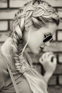 Dutch braid into fishtail.