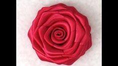 DIY Ribbon Rose Flower Tutorial - YouTube