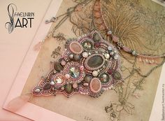 Bead Embroidery Jewelry, Beaded Embroidery, Pendant Jewelry, Beaded Jewelry, Beaded Necklaces, Beaded Brooch, Fantasy Jewelry, Bead Art, Bead Weaving