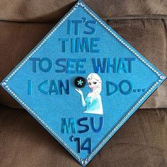 Frozen Inspired #Graduation Cap