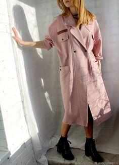 Пальто из футера. Хлопок - купить или заказать в интернет-магазине на Ярмарке Мастеров - F8GB1RU. Санкт-Петербург   Легкое пальто / пыльник из плотного трикотажа -…