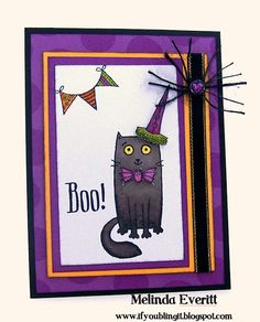 If You Bling It: Welcome to the August Stamp of the Month Blog Hop - Purr-fect Halloween
