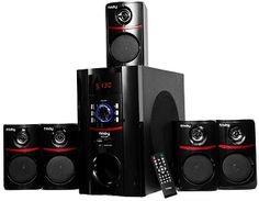 Heimkino Frisby Surround Sound Home Theater Speakers System with Bluetooth USB/SD and Remote Best Surround Sound System, Home Theater Surround Sound, Home Theatre Sound, Surround Sound Speakers, Rca Home Theater System, Best Home Theater Speakers, Home Audio Speakers, Wireless Speakers, Satellite Speakers
