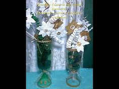Jarrones hechos con botellas desechables. DIY. How to make vases with bottles - YouTube