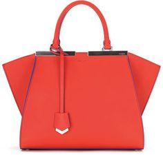 Fendi Trois-Jour Petite Bicolor Tote Bag, Red/Blue - $2,650.00
