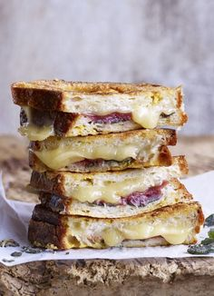 Fontina, prosciutto and sage-stuffed French toast. The ultimate eggy bread. A delicious toasted cheese sandwich. French toast filled with fontina, sage and prosciutto. Whatever you call it, this is a special comfort food recipe!