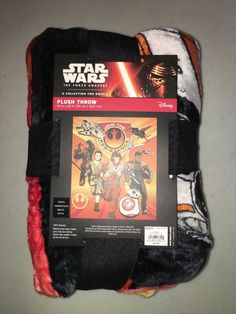 Star Wars The Force Awakens Plush Throw JOIN THE RESISTANCE 50x60 NWT #Disney
