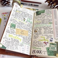 Travel journal pages and scrapbook inspiration - ideas for travel journaling, art journaling, and scrapbooking. Travel Journal Pages, Travel Journals, Ideas Vintage, Videos Tumblr, Travelers Notebook, Hand Lettering, Funny, Photo And Video, Journal Ideas