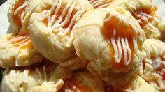 White Chocolate Apricot Thumbprint Cookies
