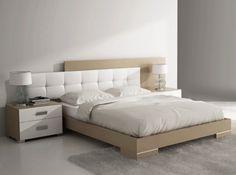 Dormitorio en color visón y blanco...