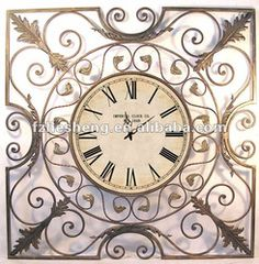 Rustic Large Scroll Design Metal Wall Clock, View rustic wall clock, Hesheng Product Details from Minhou Hesheng Art & Craft Co., Ltd. on Alibaba.com