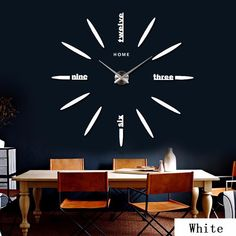 Cheap wall clock watch, Buy Quality wall clock directly from China home decor Suppliers: 2017 new wall clock watch clocks stickers home decoration living room abstract diy acrylic mirror horloge hot Big Wall Clocks, Mirror Wall Clock, 3d Mirror, Metal Mirror, Modern Clock, Modern Wall, Home Design, Modern Design, Diy Design