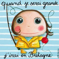 """Tableau d'Isabelle Kessedjian """"Quand je serai grande, j'irai en Bretagne"""" - Le Coin des Créateurs"""