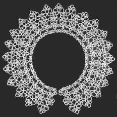 Delicate Collar with Small Motifs Vintage Tatting Pattern for download