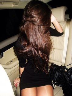 Chocolate brown hair color.