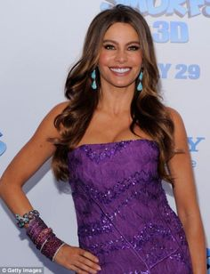 Actress Sofia Vergara, 41, the Modern Family star, who was diagnosed with thyroid cancer at 28, says she knows exercise is important for her health and tries to work out three times a week with celebrity trainer Gunnar Peterson, or she does spinning and Pilates.
