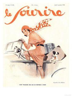 le sourire art deco french magazine cover