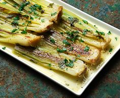 Leeks with Lemon Dijon Vinaigrette / 18 Tasty Fall Vegetable Recipes (via BuzzFeed)