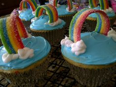 Saw it on Pinterest...made it...now I'm holding your hand as you make these ever so easy Rainbow Cupcakes.  The kids were thrilled!  (I should've done a pot of gold...perfect for St. Paddy's day.