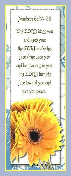 NUMBERS 6:26  The Lord be gracious unto you...