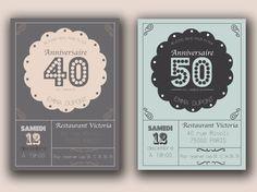 Carte Invitation Anniversaire 40 Ans Couple Coleteremelly Web