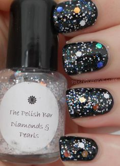 T is for The Polish Bar - Diamonds & Pearls My Nails, Diamonds, Nail Polish, Challenges, Bar, Pearls, Pretty, Beauty, Nail Polishes