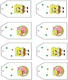 Spongebob party tags free printables