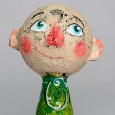 William, OOAK Paper Mache Art Doll by Charlotte Engel Studio