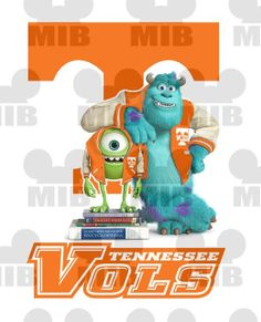 MONSTERS UNIVERSITY - Tennessee, Baylor, Michigan, LSU - Choose Your Favorite Pro or College Team - Great Idea for Shirts and Wall Prints! on Etsy, $6.00