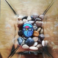 #stone #paintingstone #owl #little #lucky