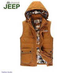 Korean men vest men's cotton washed cotton hooded vest jacket leisure male