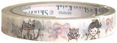 Shinzi Katoh Cheri Cats Medium Deco Tape