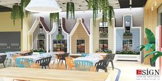 Autoservire 2 – proiect de design interior in stil modern - Studio inSIGN Restaurants, Table Decorations, Interior Design, Studio, Outdoor Decor, Modern, Projects, Furniture, Home Decor