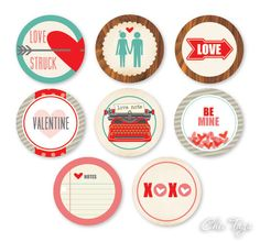 Love Note Icons - set of 8