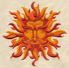 Sun God | Urban Threads: Unique and Awesome Embroidery Designs