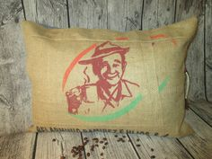 Auflagen, Kissen & Polster - Kissen aus Original Kaffeesack - ein Designerstück von Sabbel2000 bei DaWanda