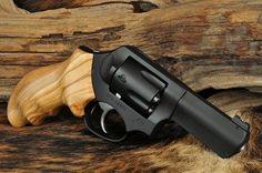 Wood grain custom grip revolver is sweet! - http://www.RGrips.com