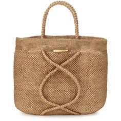 Vix X Straw Beach Bag ($184) ❤ liked on Polyvore featuring bags, handbags, tote bags, handbags totes, natural, tote handbags, straw handbags, woven beach tote, man bag and handbags purses