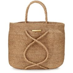 Vix X Straw Beach Bag ($195) ❤ liked on Polyvore featuring vix