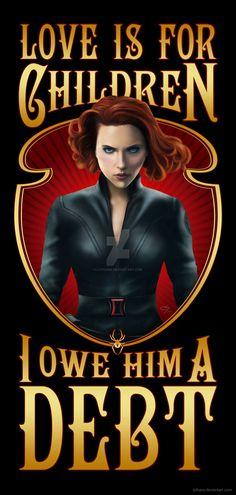 Natasha Romanoff - Black Widow (Finished) by Lythara