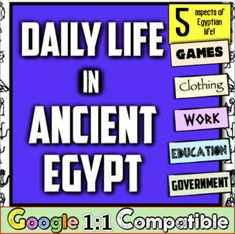 Experience 5 areas of life in Ancient Egypt! In this highly engaging Daily Life in Ancient Egypt activity, students navigate through 5 different categories to understand what daily life was like in Ancient Egypt. Ancient Egypt Lessons, Ancient Egypt Activities, Life In Ancient Egypt, Ancient World History, 7th Grade Social Studies, Social Studies Classroom, Teaching Social Studies, Teaching History, Ancient History