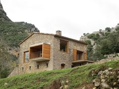 """Restoration of the old little house of """"EL BOSQUET"""" on the little Valley of RIU, in the land of La Garrotxa, in the catalan country Pirenées.  Architects : Arcadi Pla Masmiquel & Núria Pla Illa  Year of restauration : 2012 1)Long time ago,"""