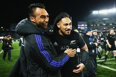 Ma'a Nonu Photos Photos - Victor Vito of the New Zealand All Blacks and Ma'a…