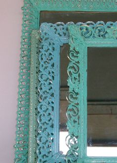 4 Vintage Distressed Filigree Mirrors by DirtRoadDecor on Etsy, $50.00