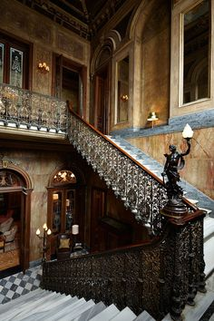 The palazzo's main staircase, Soho House Istanbul