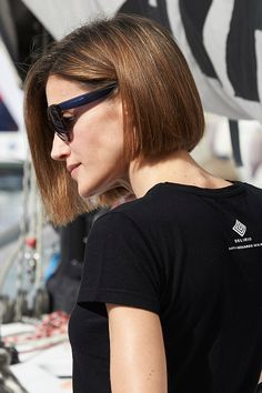 Queen Letizia of Spain visits the Aifos boat during the last day of 34th Copa del Rey Mapfre Sailing Cup on August 8, 2015 in Palma de Mallorca, Spain
